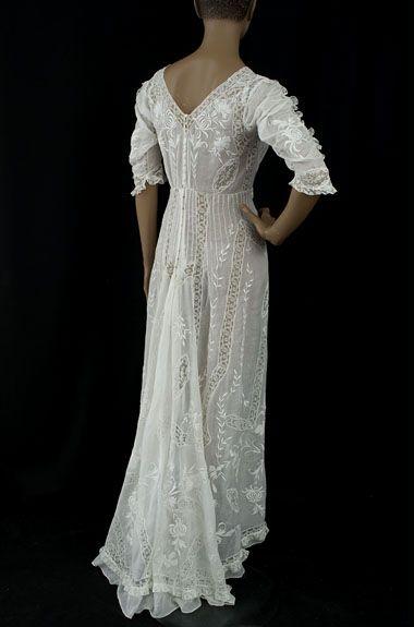 edwardian tea dress back   Vintage clothing   Vintage ...