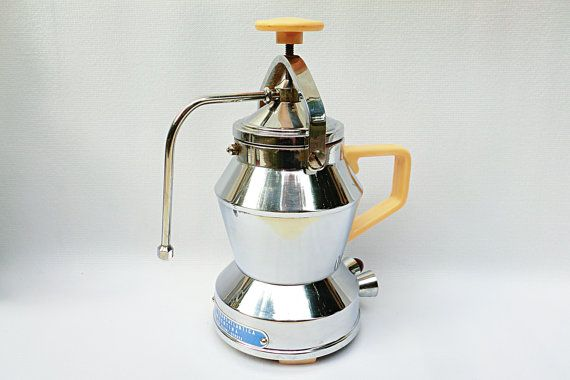"""RARE Electric Coffee Machine, produced in Italy in the 50s, for """"Argentina Transatlantic Fleet"""", collectibles coffee maker"""