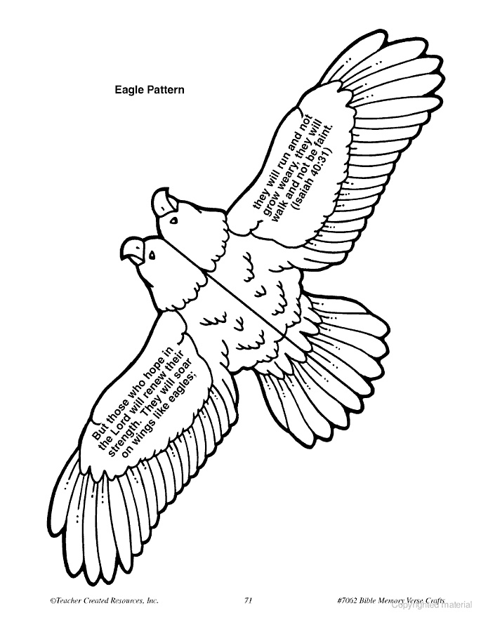 Probably too much tricky cutting.  See alternate Eagle craft.  Soaring Eagle craft