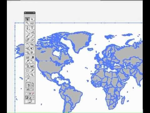 Creating maps for infographics 101- Part 1 of 3 - YouTube