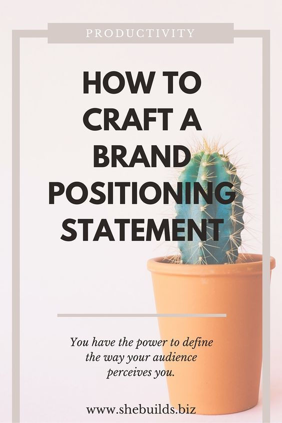 Best 25+ Brand Positioning Statement Ideas On Pinterest | Brand