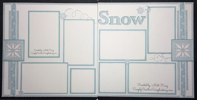 Beautiful layout by Mati King using White Pines CTMH (Close to my heart) paperpack.