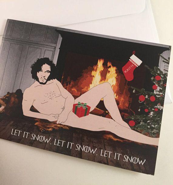 Jon Snow Christmas Card Let it Snow Let it by TheOneCreativeBird