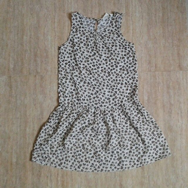 H & M leopard dress 13/14tahun 65rb