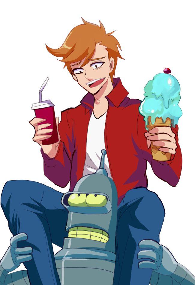 Fry and Bender by GAN-91003 (Gump) | #Futurama