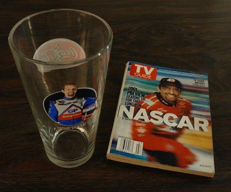KYLE PETTY Collectibles Coca-Cola Racing Glass & 2001 NASCAR TV Guide *AUCTION | Sports Mem, Cards & Fan Shop, Fan Apparel & Souvenirs, Racing-NASCAR | eBay!