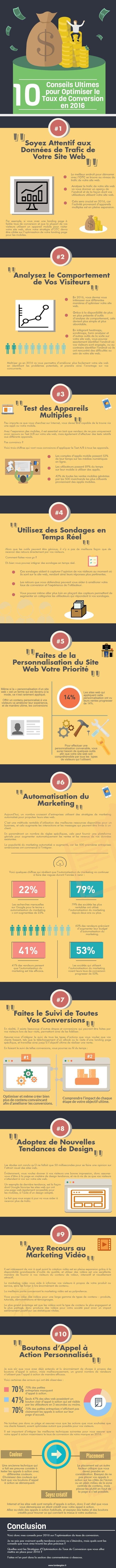 #infographie #webmarketing 10 conseils pour optimiser votre taux de conversion
