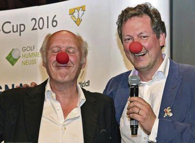 Hermann van Veen (l.) und Dr. Eckart von Hirschhausen (r.) sorgten für amüsante Unterhaltung der Gäste Foto: nno.de