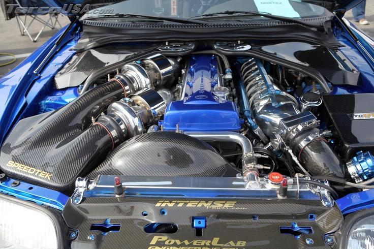 Twin Turbo with nitro Toyota Supra engine