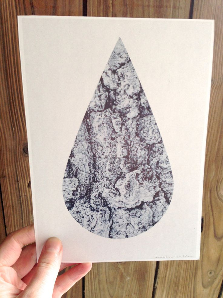 Tear Bark Graphic Design Wall Art or Card by Project O by ProjectOGrahipcs on Etsy
