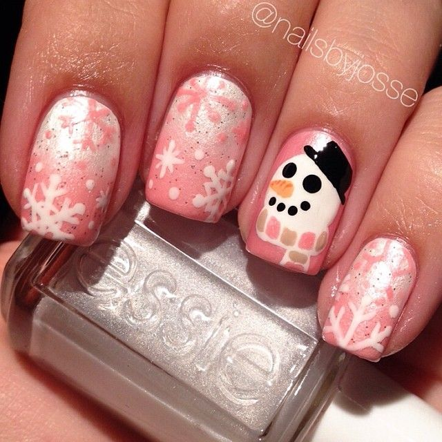 snowman christmas by nailsbyjosse #nail #nails #nailart