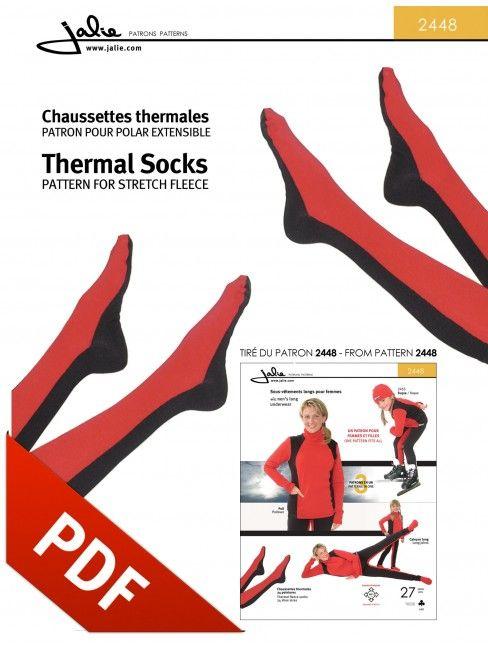 2448 Thermal Socks PDF Pattern