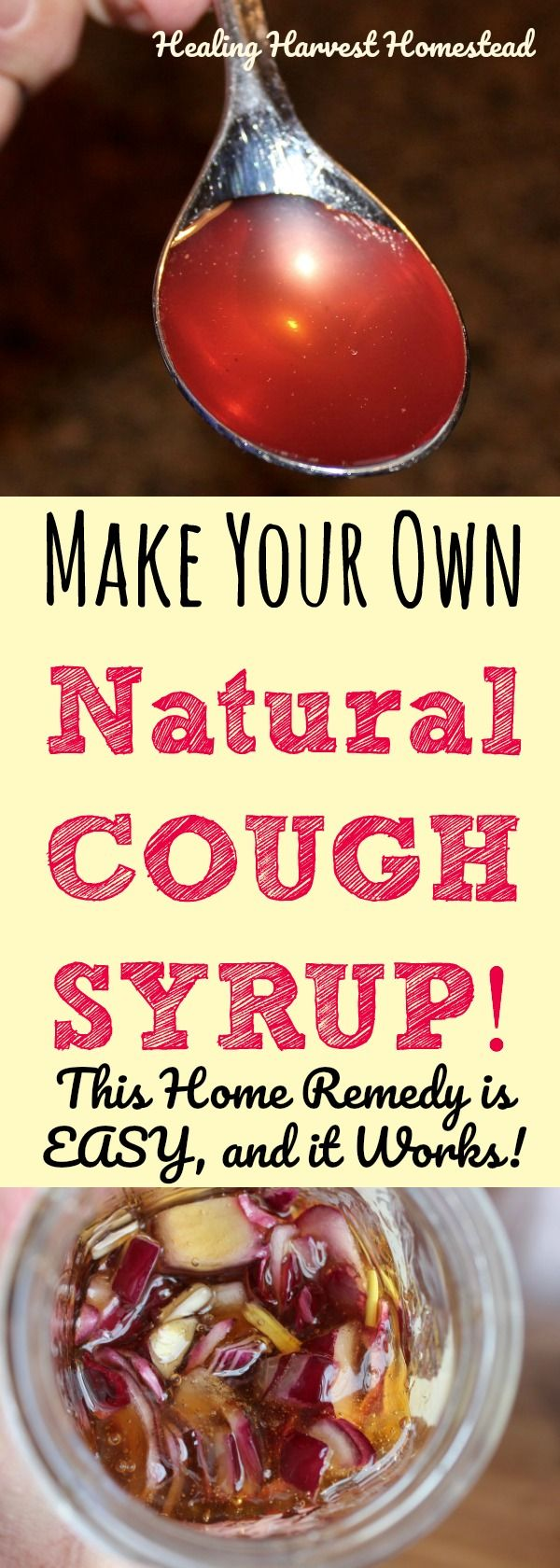 DRAT! You got a cough with that cold? Here is a recipe for a natural cough syrup you can make easily with just two ingredients! And....IT WORKS! Find out how to make your own natural cough syrup with this recipe. This home remedy works for coughs FAST, and it's easy to make.