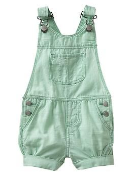 Chambray shortalls | Baby Gap