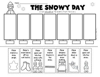 Retelling and Sequencing The Snowy Day. Kindergarten and First Grade Reading. $