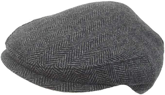 96cab0aa3 Headchange Made in USA 100% Wool Ivy Scally Cap Black Herringbone ...