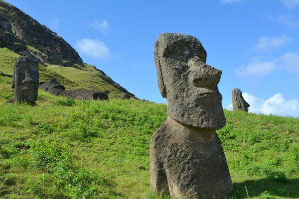 """El nombre completo de las estatuas en su idioma local es Moai Aringa Ora, que significa """"rostro vivo de los ancestros"""". Estos gigantes de piedra fueron hechos por los Rapa Nui para representar a sus ancestros, gobernantes o antepasados importantes, que después de muertos tenían la capacidad de extender su """"mana"""" o poder espiritual sobre la tribu, para protegerla."""