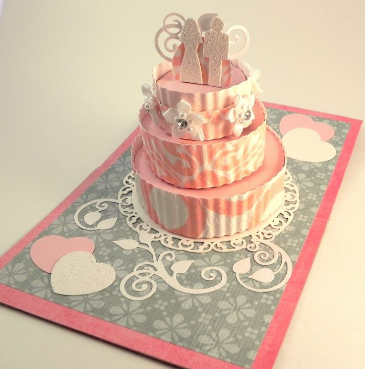 Pop Up Wedding Cake Card