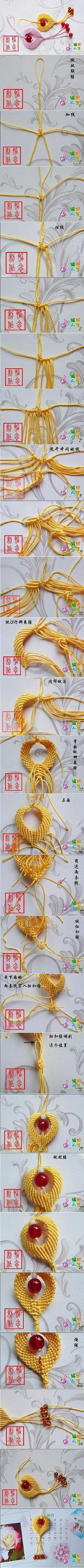 (11) DIY Chinese Knot Heart Ornament | Макраме | Орнамент С Сердцами, Узел и Китайский