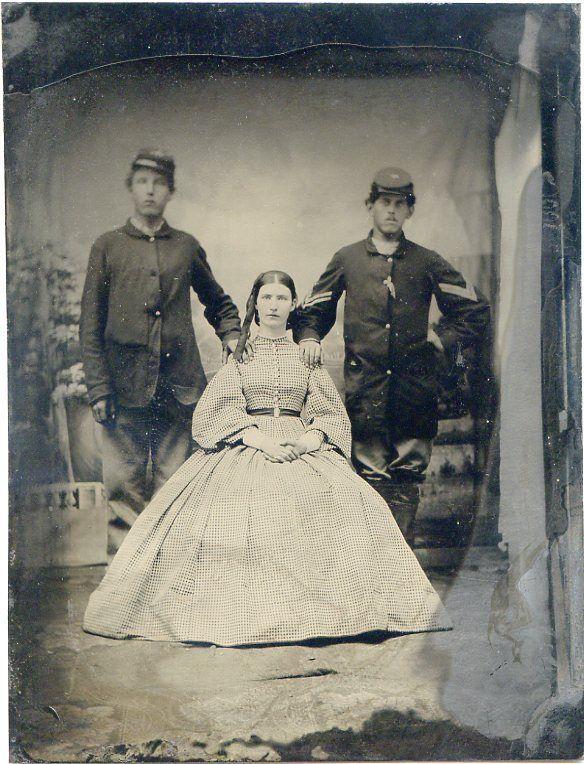 Civil War Soldiers Pretty Girl in Hoop Dress Quarter Plate Tintype Photo | eBay