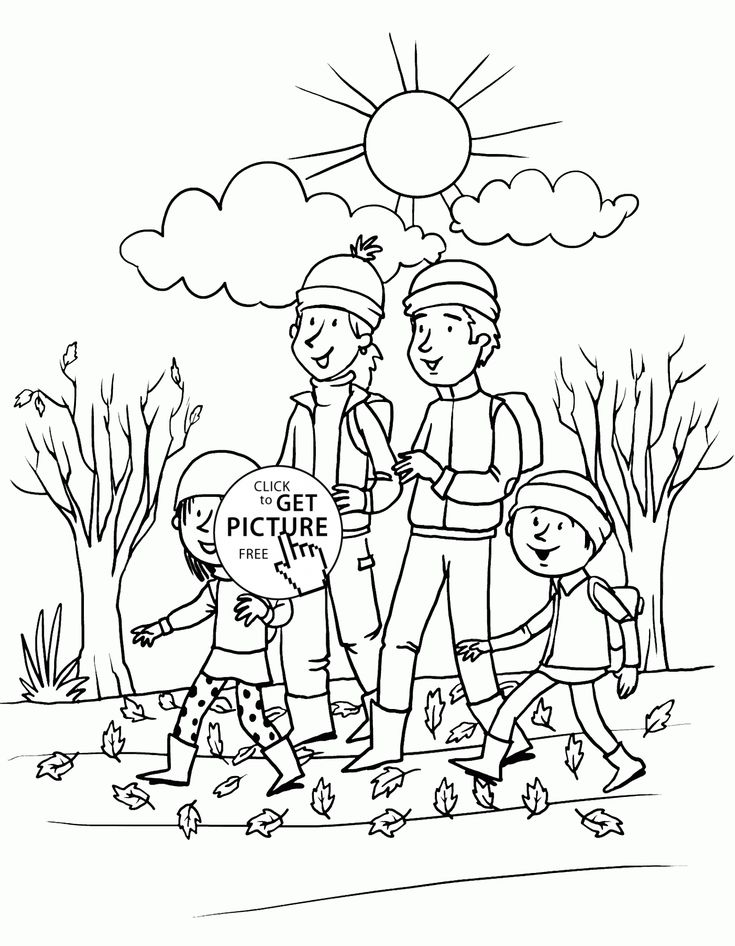 Happy Fall Day coloring pages for kids, seasons autumn