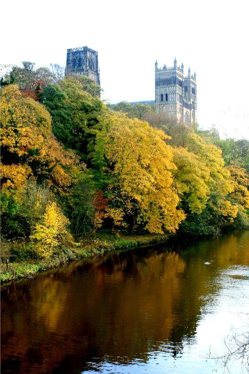 Autumn colours along the riverside.  Durham, photo by Roy Jackson