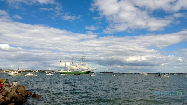 Alexander von Humboldt II (class A) from Bremerhaven, Germany leaving the harbor of Helsinki