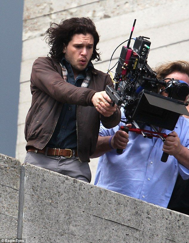 Kit Harington is Armed and ready:The British actor, who plays Will Crombie in Spooks: The Greater Good, was...