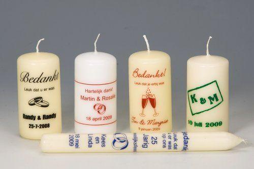 Bedrukte kaarsen 120/60 mm 1 kleur met een foto, logo of tekst