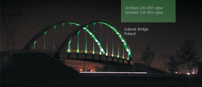 Gdansk Bridge using Archiled Line RGBW