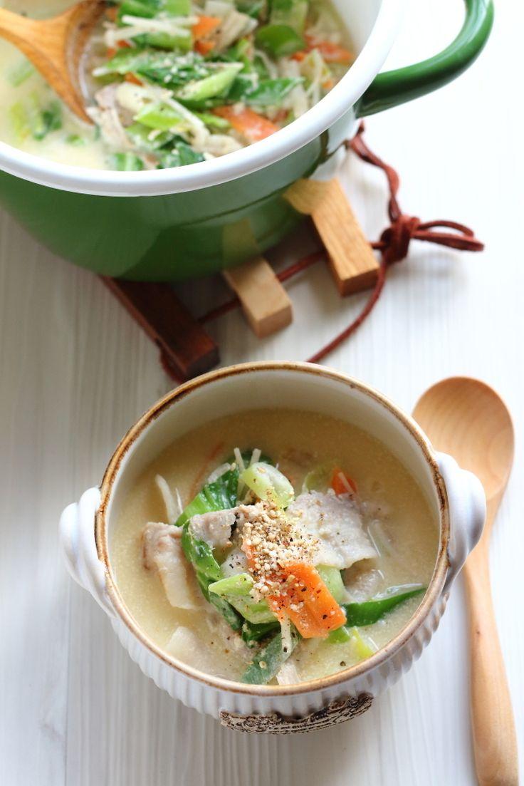 ねりごま香る【中華風野菜たっぷりスープ】 by 小春ちゃん | レシピサイト「Nadia | ナディア」プロの料理を無料で検索