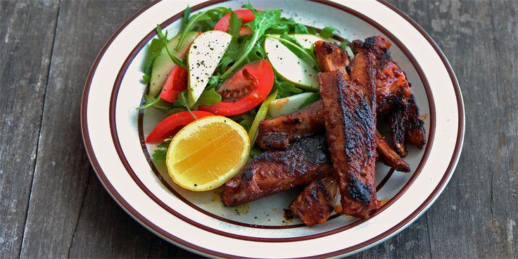 Sticky BBQ Lamb Ribs Recipe - Lifestyle FOOD
