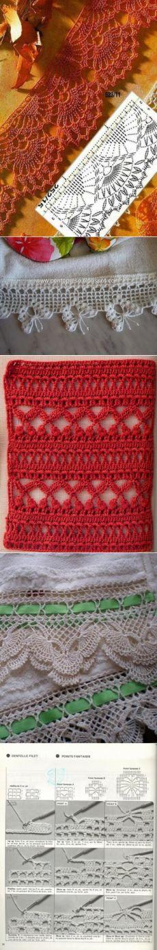 Узоры для вязания крючком. Подборка 58