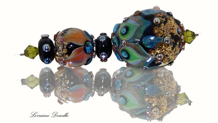 Lorraine Dowdle - Large Lampwork accent focal bead set
