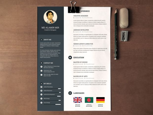 22 Best Design Images On Pinterest Resume Design Graphic Resume