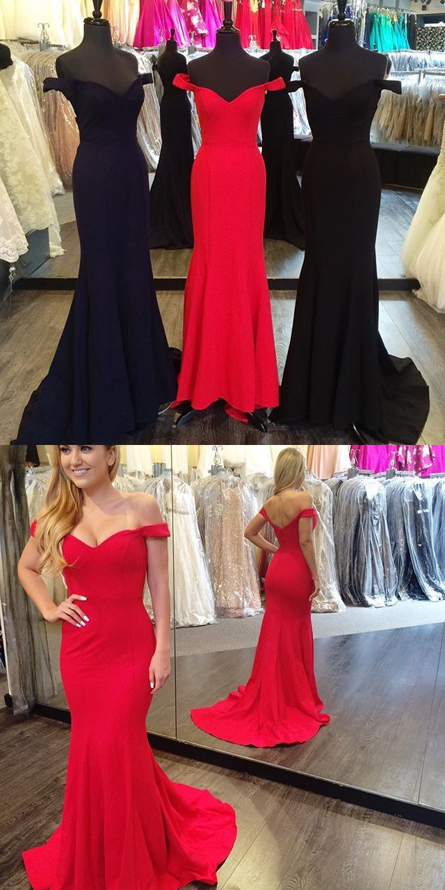 2017 prom dress, long prom dress, mermaid long prom dress, red prom dress, black prom dress, navy blue prom dress