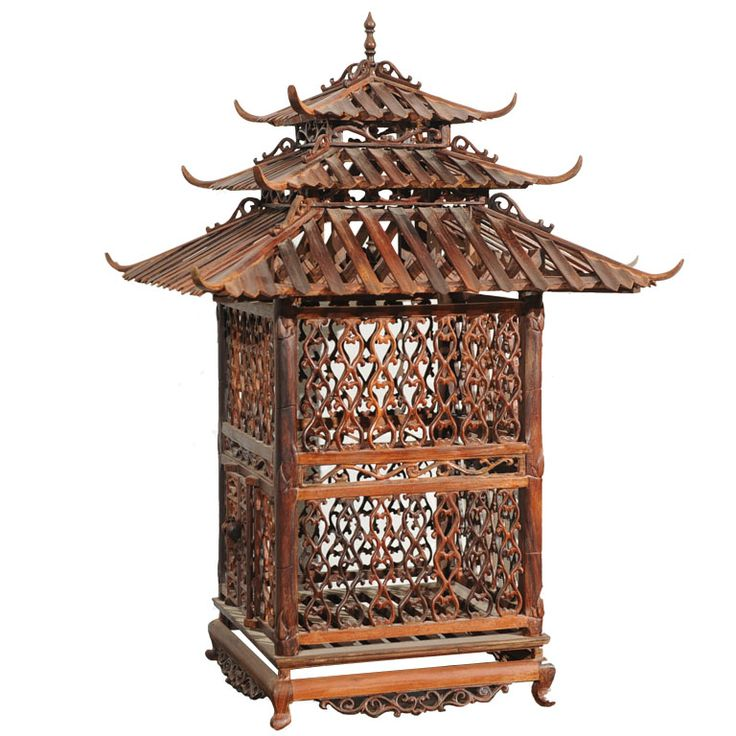 An Imposing Antique Birdcage  Vietnam  20th century  An Imposing Antique Birdcage from Vietnam