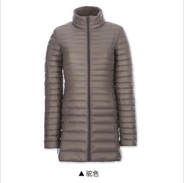 2017 Winter Jacket Women Long Down Coat 90% White Duck Parka Warm Outwear Coat Woman Windproof Jackets Plus Size 4Xl Khaki S 2