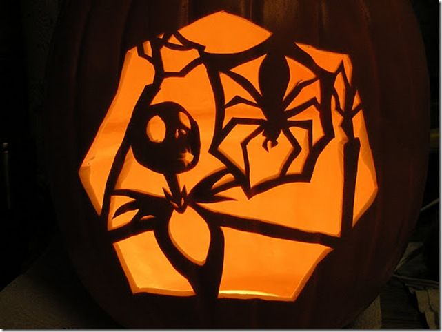 Nightmare Before Christmas Pumpkin Carving-love this
