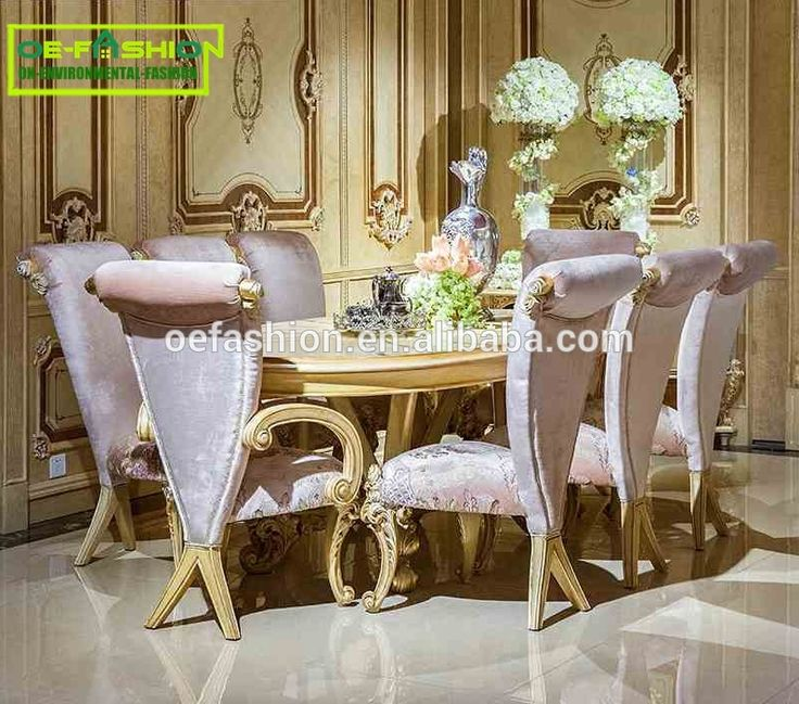 For Sale Wooden Carved Oval Dining Table With Top Hand Painting Room Used Furniture