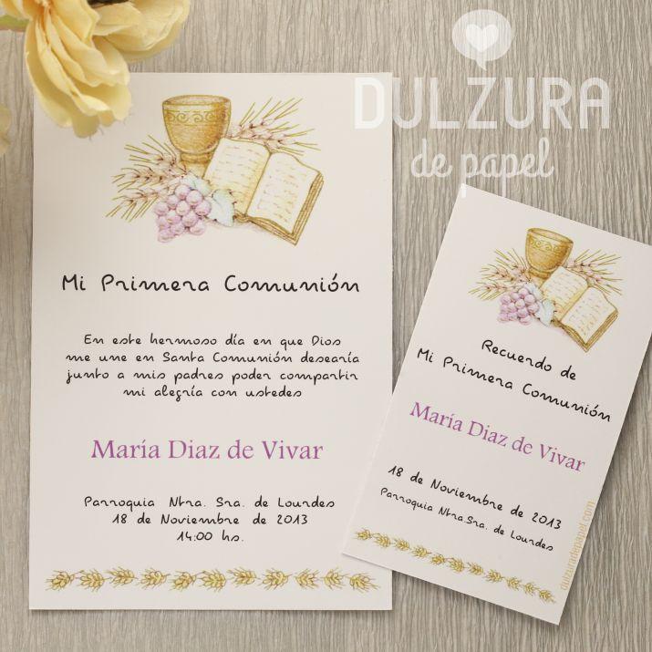 Invitaciones Primera Comunión para imprimir Todos los textos son editables! #comunion #imprimible