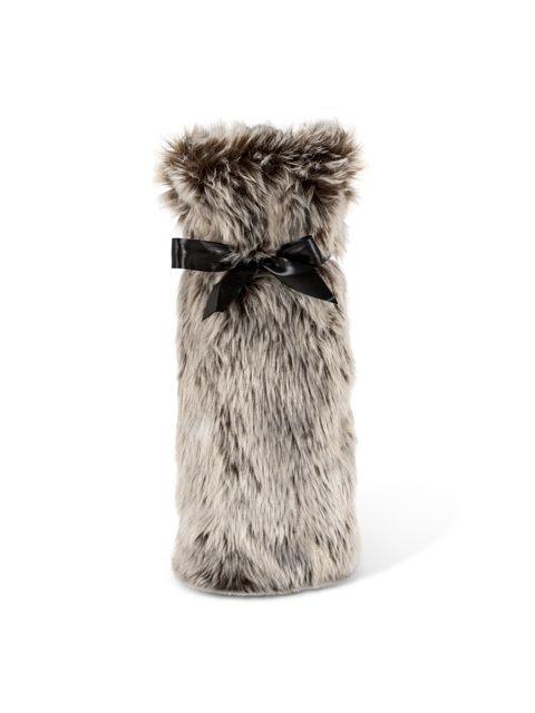 "American Chateau - Glam 12"" Polyester Faux Fur Bottle Black Gift Bag Holder ZZ16882, C$19.57 (http://www.americanchateau.com/Glam-12-Polyester-Faux-Fur-Bottle-Black-Gift-Bag-Holder-ZZ16882/)"