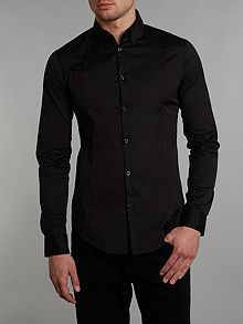 Fitted cotton long sleeve shirt