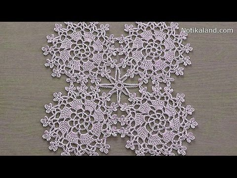 An easy and quick way to crochet and stiffen a snowflake ornament for your tree! You'll need some thin yarn (I used pure cashmere I had leftover from a scarf...