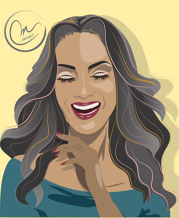 Avatar  Likeness  Custom Illustration  Woman by lovedesigning #vectorgirl #illustration #likeness #portrait #celebrity #tyrabanks #tyra