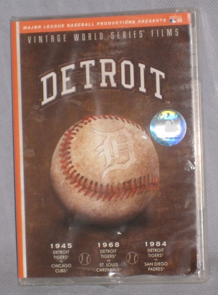 New Detroit Tigers Vintage World Series Films DVD of 1945 1968 1984 World Champs