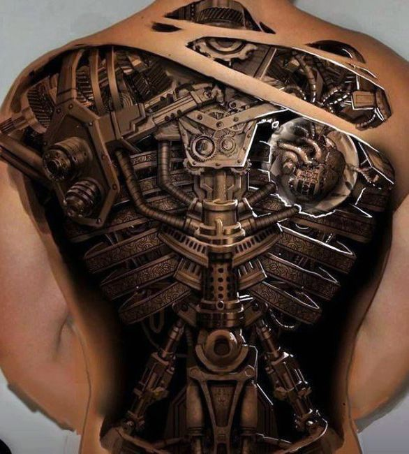 awesome Tattoo Trends - 50 Mechanic Tattoos For Men - Masculine Robotic Overhauls