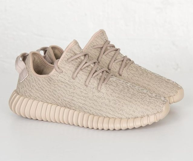 The adidas Yeezy Boost 350 Oxford Tan is showcased in another detailed look. Find the model at select adidas stores on December 29th.