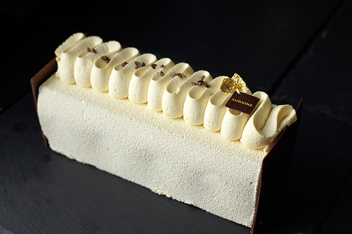 Our chocolate bûche de Noël is looking rather tempting today