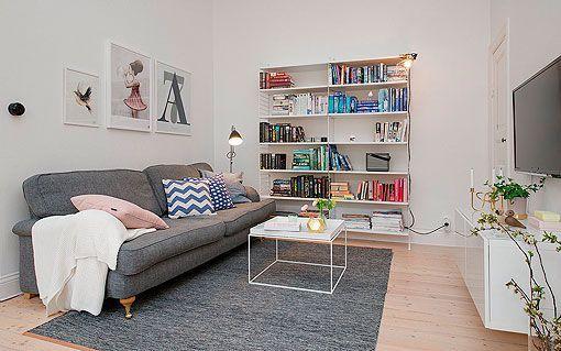 Salón de un apartamento femenino